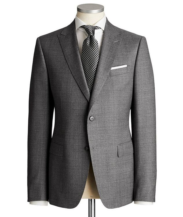 Drop 8 Checked Wool Suit picture 1