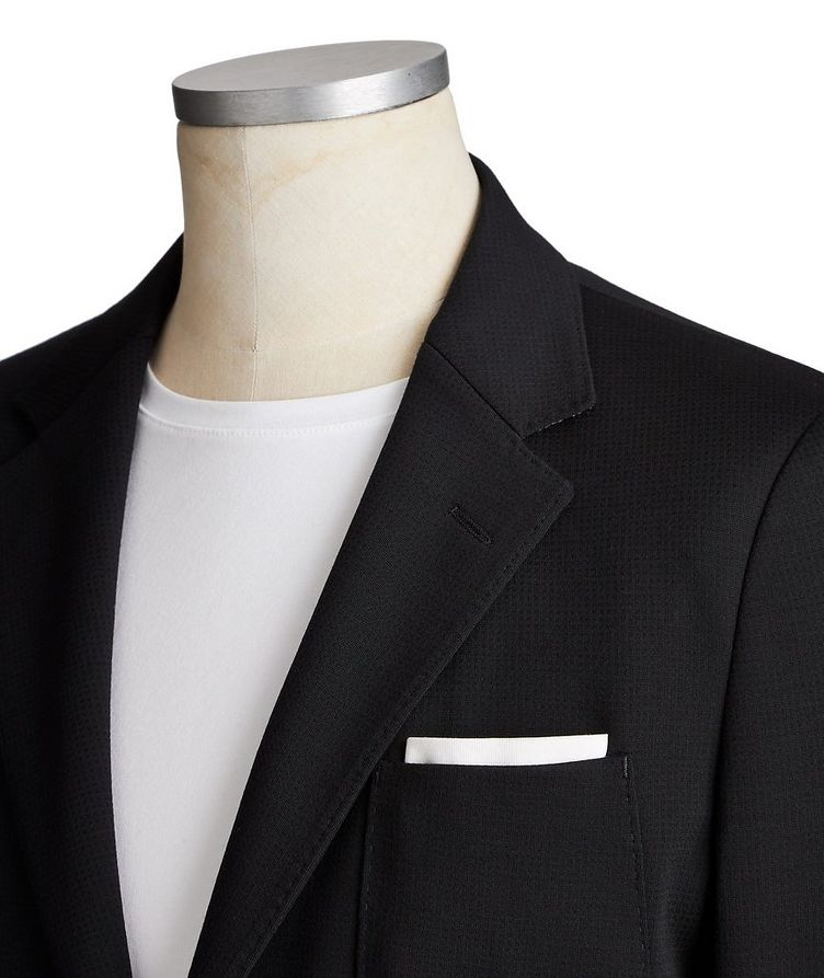 Printed Cotton-Wool Shirt Jacket image 1