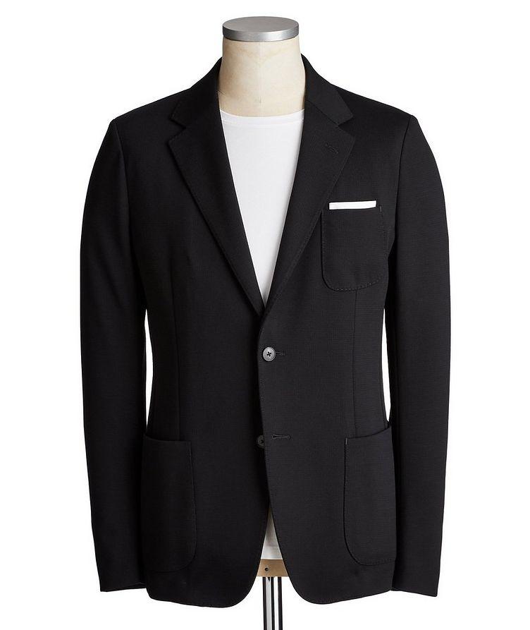 Printed Cotton-Wool Shirt Jacket image 0