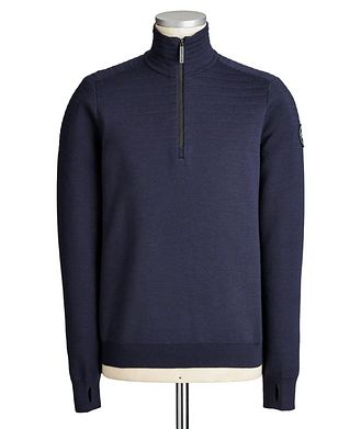 Canada Goose Clarke Half-Zip Wool-Blend Sweater