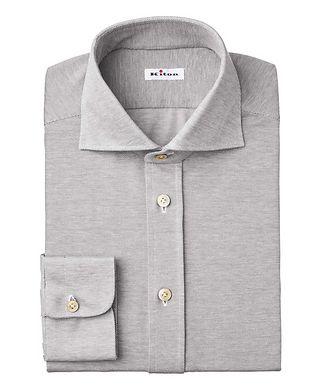 Kiton Bird's Eye-Printed Cotton Shirt