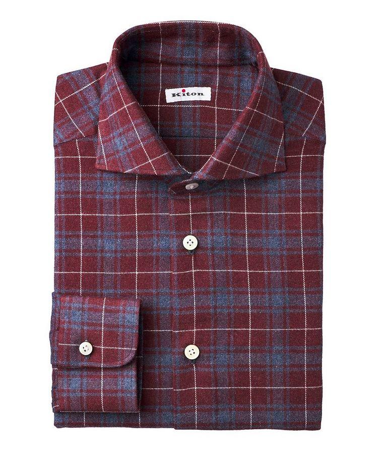 Plaid-Printed Cotton-Flannel Shirt image 0