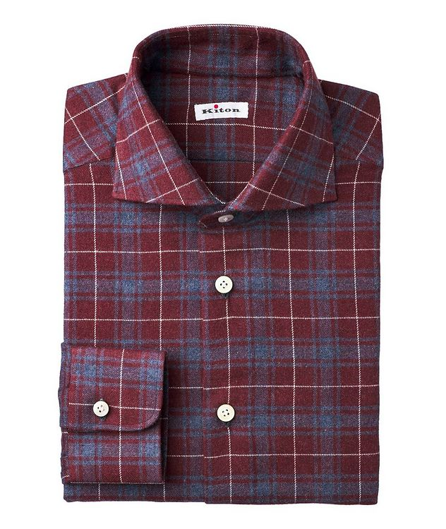 Plaid-Printed Cotton-Flannel Shirt picture 1