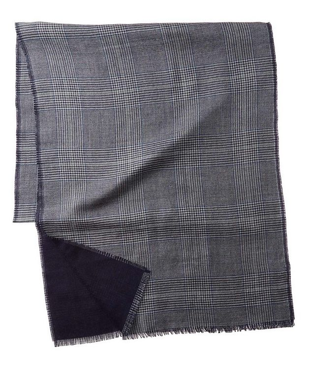 Checked Cashmere-Silk Scarf picture 1