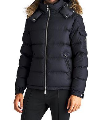 Moncler Allemand Fur-Trimmed Down Jacket