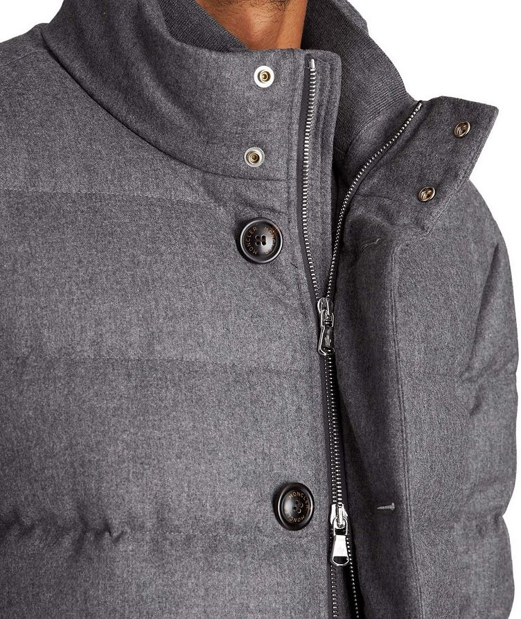Baudier Down-Filled Flannel Trench Coat image 2