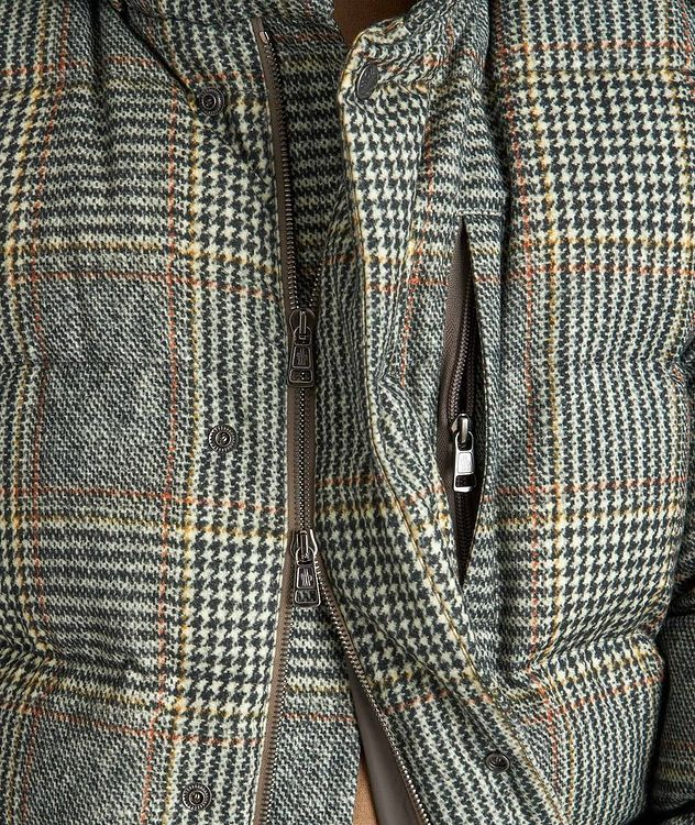 Rolland Plaid Down Jacket picture 3