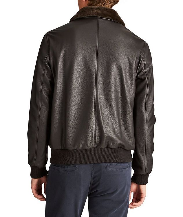 Tumbled Deerskin Bomber Jacket picture 2