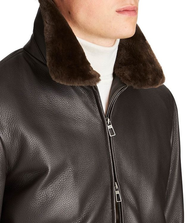 Tumbled Deerskin Bomber Jacket picture 3