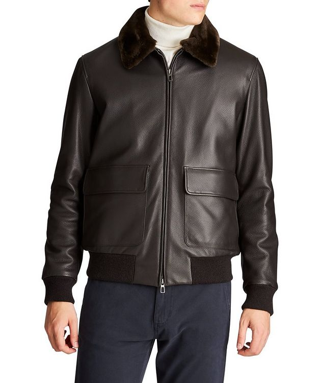 Tumbled Deerskin Bomber Jacket picture 1