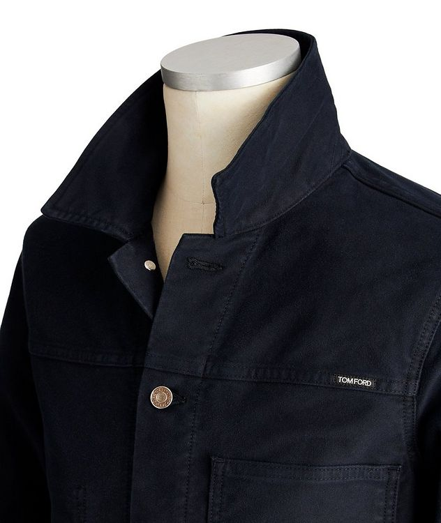 Brushed Denim Trucker Jacket picture 3