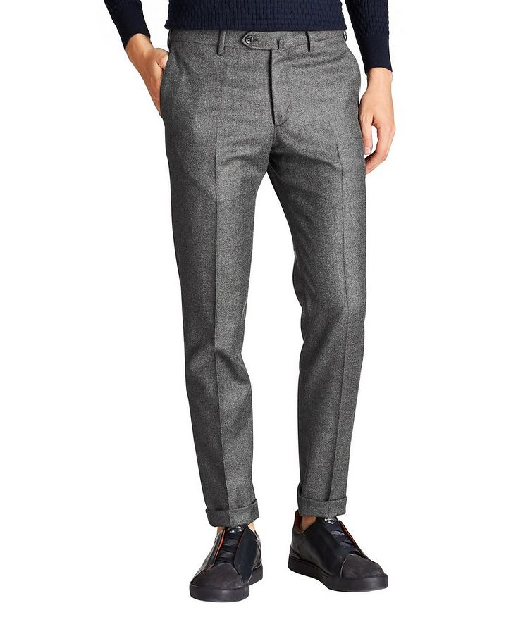 Virgin Wool-Cashmere Trousers image 0