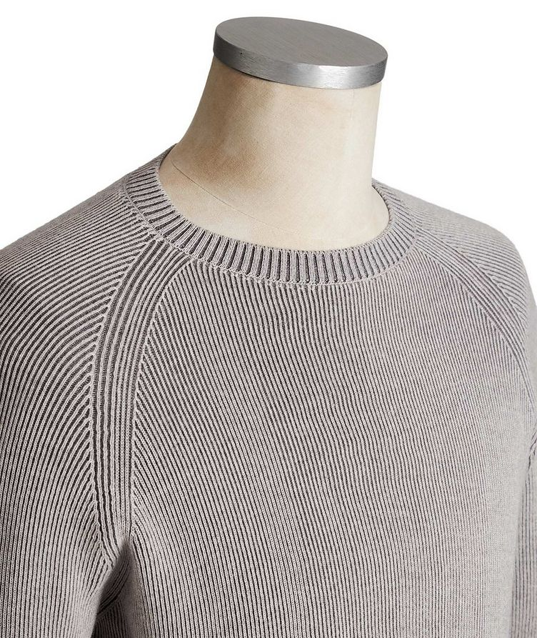Ribbed Knit Wool Sweater image 1