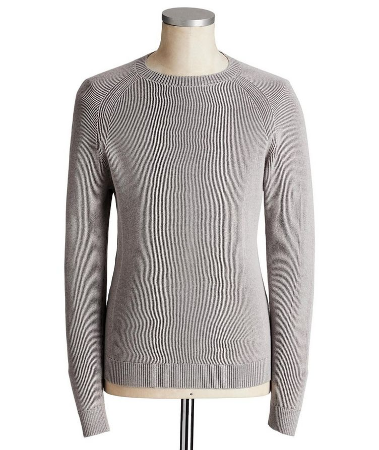 Ribbed Knit Wool Sweater image 0