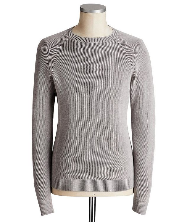 Ribbed Knit Wool Sweater picture 1