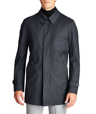 Maurizio Baldassari Boiled Wool Car Coat
