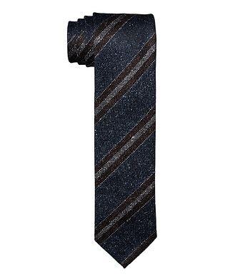 Eton Striped Wool-Silk Tie