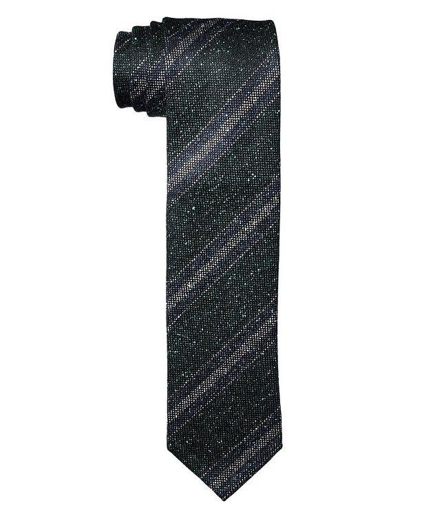 Striped Wool-Silk Tie picture 1