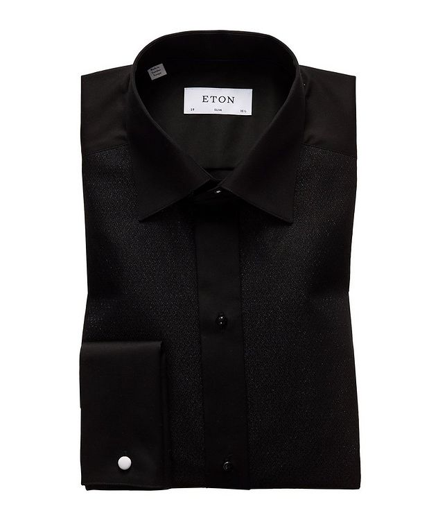 Slim Fit Textured Dress Shirt picture 1