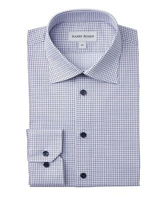 Harry Rosen Contemporary-Fit Checked Dress Shirt