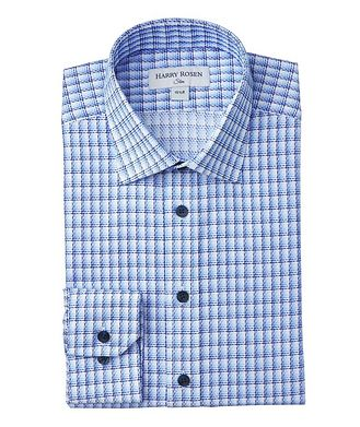Harry Rosen Slim-Fit Checked Dress Shirt