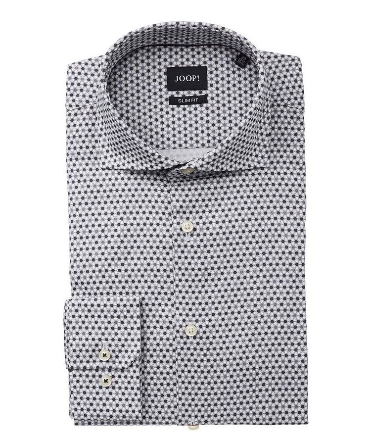 Slim Fit Geometric-Printed Dress Shirt image 0