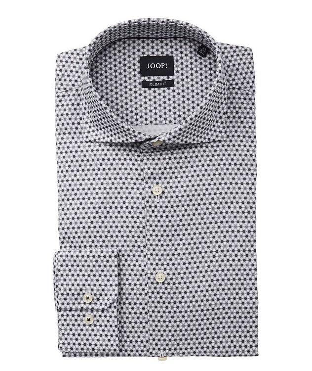 Slim Fit Geometric-Printed Dress Shirt picture 1