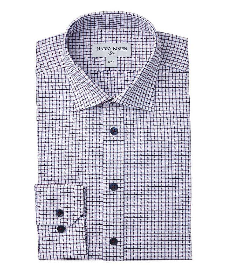 Slim-Fit Checkered Dress Shirt image 0