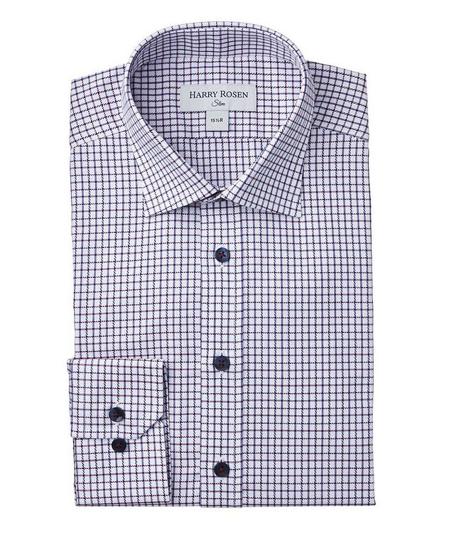 Slim-Fit Checkered Dress Shirt picture 1