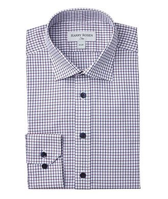 Harry Rosen Slim-Fit Checkered Dress Shirt