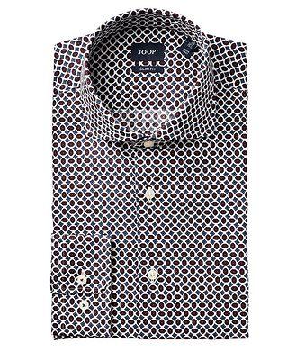 Joop! Slim Fit Geometric-Printed Dress Shirt