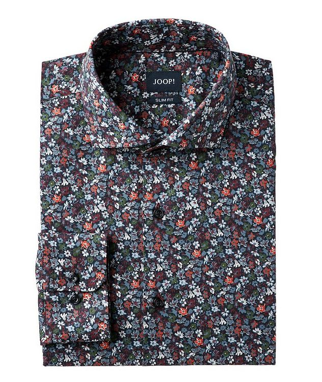 Slim Fit Botanical-Printed Dress Shirt picture 1