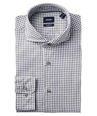 Joop! Slim Fit Gingham-Printed Dress Shirt
