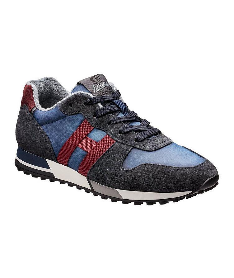 Chaussure sport en suède et filet image 0
