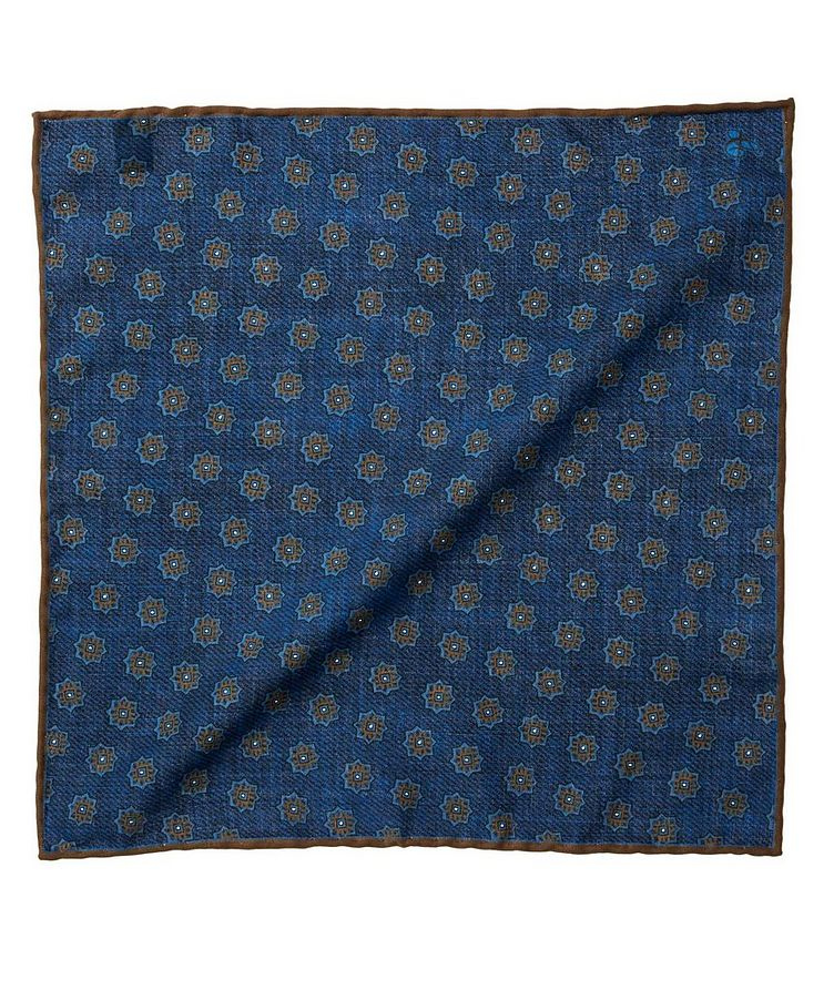Printed Virgin Wool Pocket Square image 0