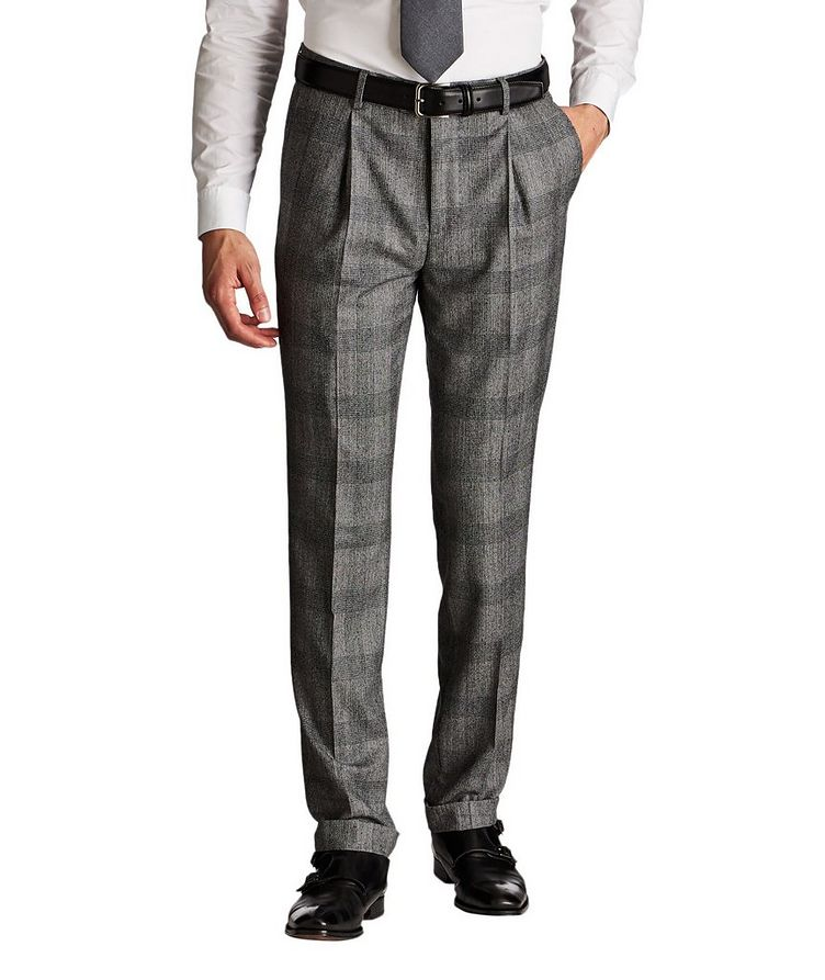 Contemporary Fit Checked Dress Pants image 0
