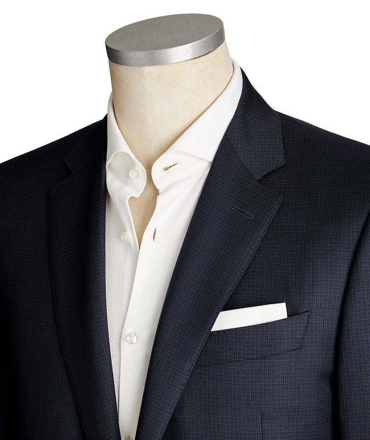 Contemporary Fit Micro-Check Suit image 1