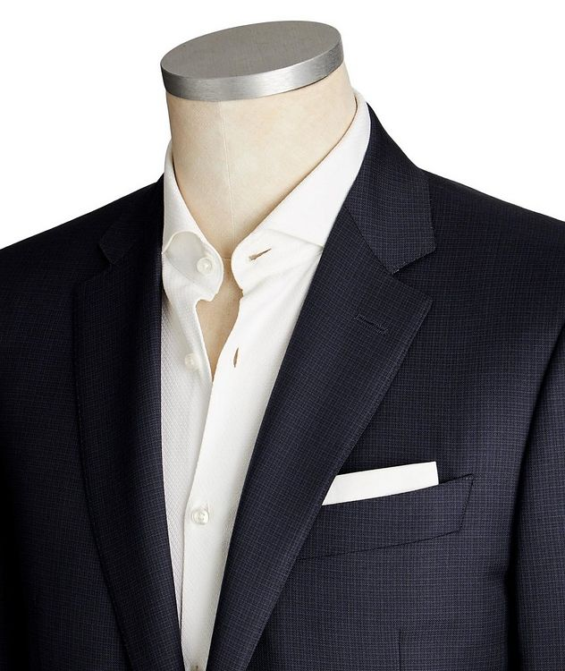 Contemporary Fit Micro-Check Suit picture 2