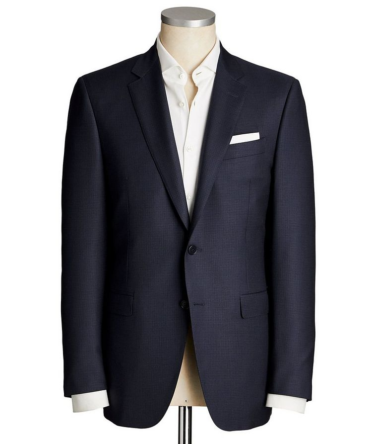 Contemporary Fit Micro-Check Suit image 0