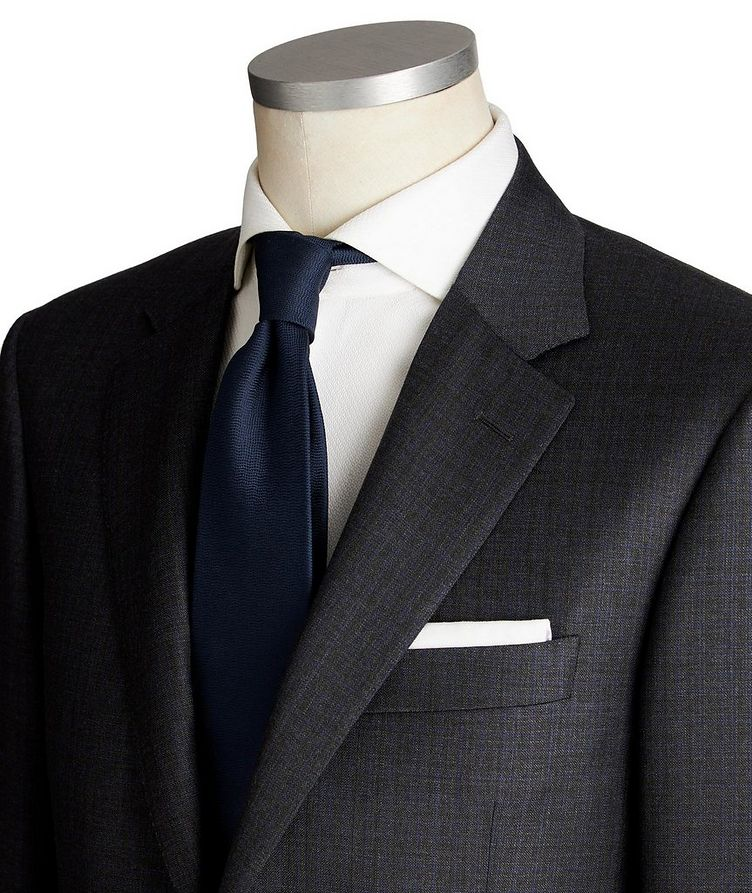 Contemporary Fit Tonal Checked Wool Suit image 1