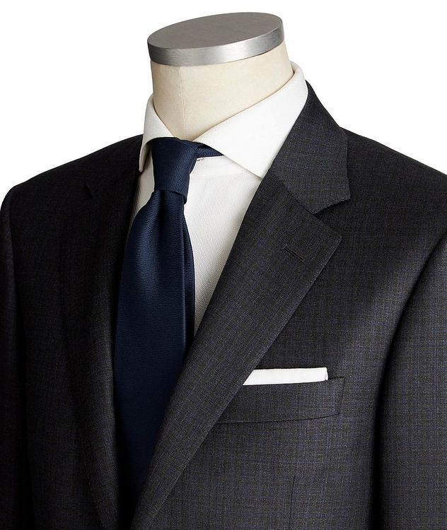 Contemporary Fit Tonal Checked Wool Suit picture 2