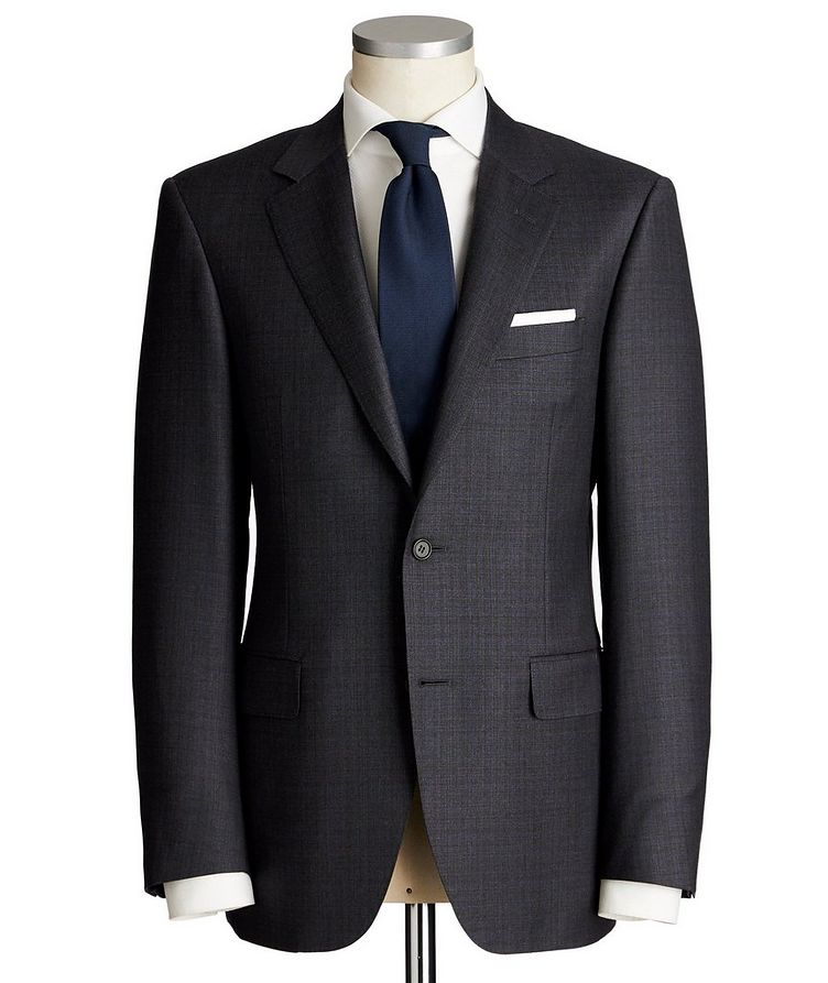 Contemporary Fit Tonal Checked Wool Suit image 0
