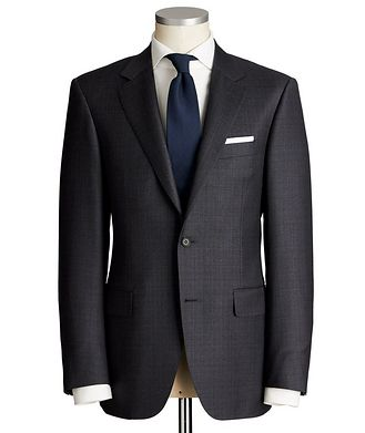 Canali Contemporary Fit Tonal Checked Wool Suit