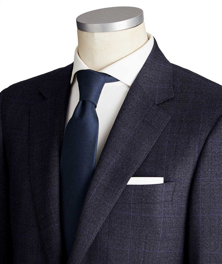 Contemporary Fit Windowpane Wool Suit image 1