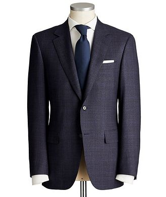 Canali Contemporary Fit Windowpane Wool Suit