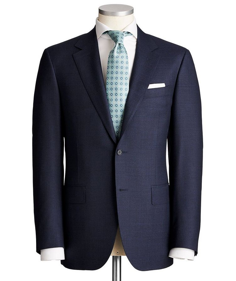 Contemporary Fit Checked Wool Suit image 0