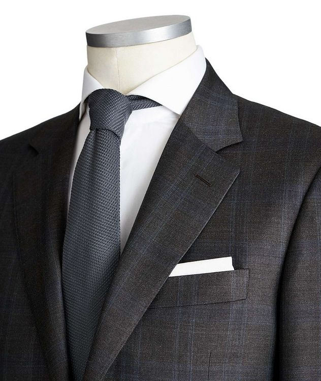 Contemporary Fit Checked Wool Suit picture 2
