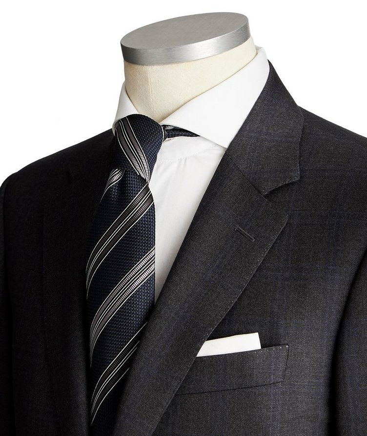 Contemporary Fit Tonal-Checked Suit image 1
