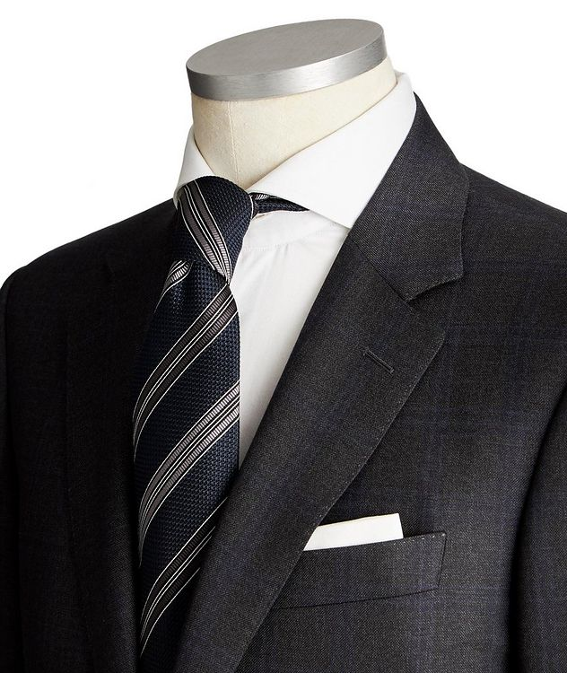 Contemporary Fit Tonal-Checked Suit picture 2