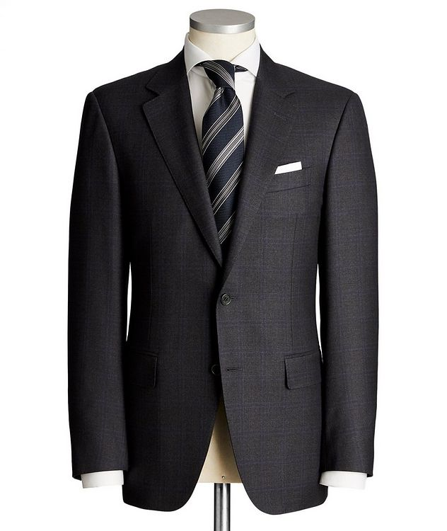 Contemporary Fit Tonal-Checked Suit picture 1